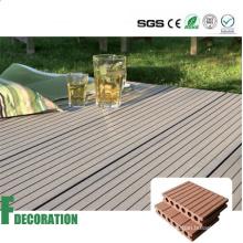 Weather Resistant Solid Low Cost Wood Plastic Composite Floor Decking