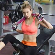 Women High Elastic Fitness Sports Underwear Yoga Running Training Bra With Zipper no rims