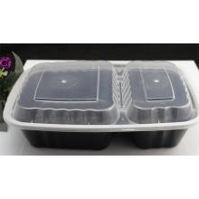 Envase de comida de plástico transparente reutilizable de los PP / envase de comida de la microonda / envase de comida hermético