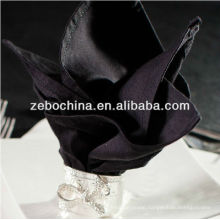 Hot selling design direct factory made luxury wholesale hotel cotton black napkin