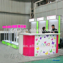 light weight modular slatwall trade show display booth 3mx6m with slat wall to hang products