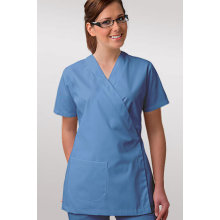 Nursing top scrub with bind