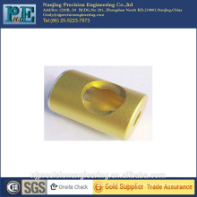 Precision gold plating steel alloy small CNC parts