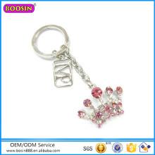 Großverkauf der fabrik Rinestone Modeschmuck Crown Keychain