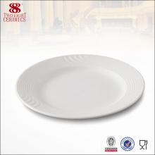Chine Fabricant En Gros Porcelaine Ronde Servant Dîner Plaque