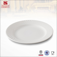 China Manufacturer Wholesale Round Porcelain Serving Dinner Plate