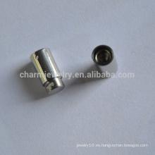 BXG026 Cierre de acero inoxidable para la cuerda de cuero Descenso de primavera para pulsera Joyería de bricolaje Resultados y componentes