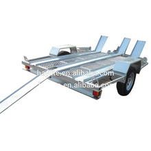 Hot dipped galvanized steel motorbike trailer for sale