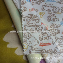 Printed polyester satin fabric, used for evening gowns and wedding dresses, 50*75D/57-/58-inch width