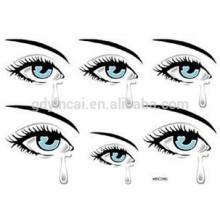 Body Kosmetik und Kunst ungiftig selbstklebende temporäre Augen Tattoo Aufkleber