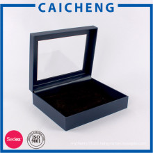 Wholesale high quality jewelry gift box with window on cover lids