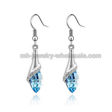 2014 New Fashion Zinc Alloy Earring Wire Drop Gemstone Earrings