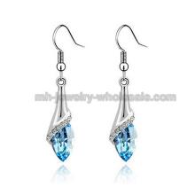 2014 nouveau mode Zinc Alloy boucle d'oreille Wire Drop de pierres précieuses boucles d'oreilles