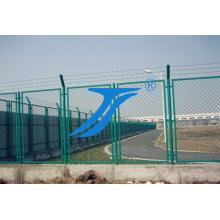 Valla de malla de alambre soldado con autógena de la seguridad revestida del PVC