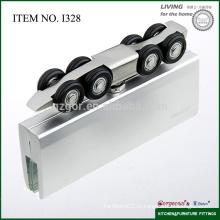 Алюминиевая стеклянная душевая дверь 8 колесных дисков направляющего ролика