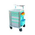 Chariot médical d'urgence d'ABS de chariot de meubles d'hôpital