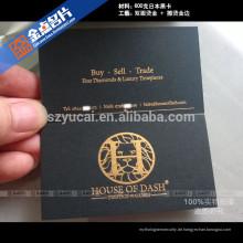 Benutzerdefinierte Form Buchdruck Papier Besuchskarte Probe