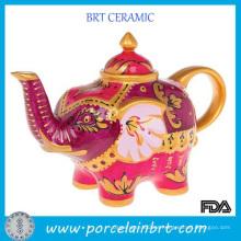Tetera de elefante colorido santo estilo indio