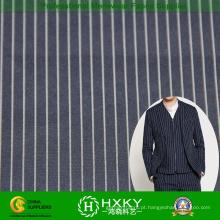 Listra fio tingido tela do poliéster para Men′s Casual camisa ou jaqueta