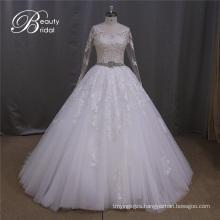 A-Line Bridal Dresses Customized Beading