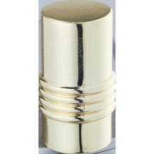 Crito linha cortina cilíndrica haste alumínio Finial