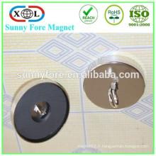 Crochet de plafond magnétique nickel D63mm