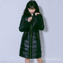 Women`s long down jacket