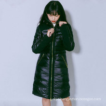 Women`s long down jacket