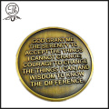 Custom military metal engraving challenge coins