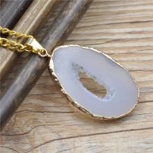 Conectores de piedra preciosa, colgante de piedra de encanto, colgante druzy naturales de piedra