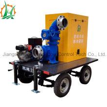 Mobile Big Flow des ensembles de pompes à remorque mixtes à déshydratation diesel