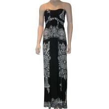 Vestido sem mangas de Eveing das mulheres, vestido de senhora da forma do tubo