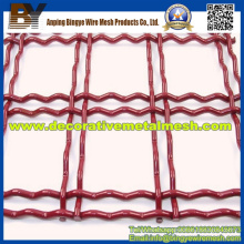 Crimped Weave Anping Rusted Steel Decorative Wire Mesh
