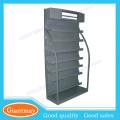 7 niveles de pie de metal de metal pequeña estantería de libros de hierro de venta al por menor