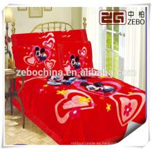 Patrón de dibujos animados bebé cuna ropa de cama de China al por mayor