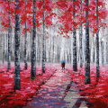 Impressionism Aluminum Base Acrylic Reproduction Oil Painting for Trees