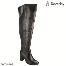 Putian Shoes Factory Zip Up Over Knee Winter Thigh High Ladies Boots