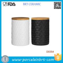 Neue Küche Essen Keramik Vorratsdose mit Bambus Deckel