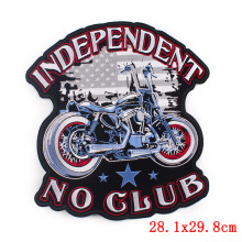 Large Punk Rock Bike Motorcycle  Embroidered Patches