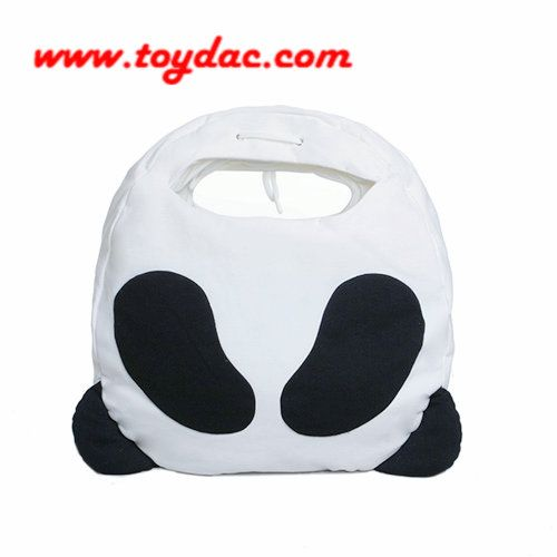 plush panda bag with handle