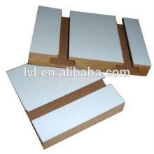 18mm melamine mdf slatwall board with hooks for supermarket