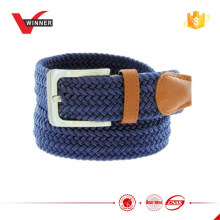 Woven Chevron Patterned Men Braided Stretch Belt