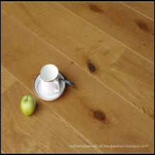 Primeiro piso sólido de madeira de carvalho