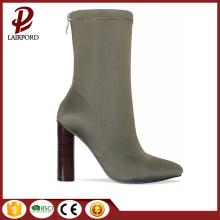 high heel camle women ankle short boots