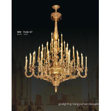 Classical Hotel Gold Brass Chandelier Light (WD7126-57)