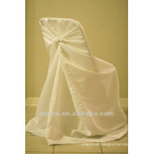 self-tie back chair cover,CT345 satin chair cover,universal chair cover