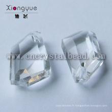 Bijoux cristal verre forme irrégulière lâche en gros perle