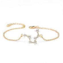 Gold Plated Adjustable Astrology Horoscope Zodiac Bracelet Women