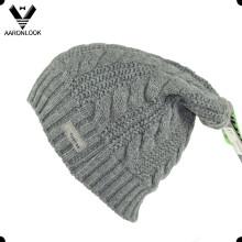 Chapeau en tricot à long terme acrylique d'hiver de haute qualité