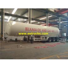 Reboques de tanque do propano de 56cbm LPG